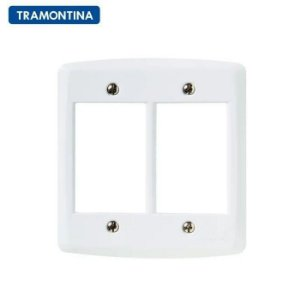 Placa 6 Postos Tramontina 4x4 Lux² Branca  Tramontina