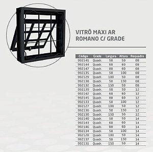 Vitro Maxi CRV 80x60 Vidro Quadriculada Requadro 14 cm - CRV