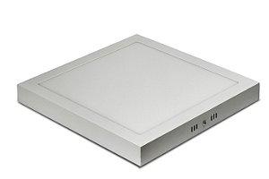 Plafon Led Sobrepor Branca Quadrada 24w 300mm Bivolt - Galaxyled