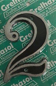 Algarismo Aluminio Medio Lixado Numero 2 - Grelhasol
