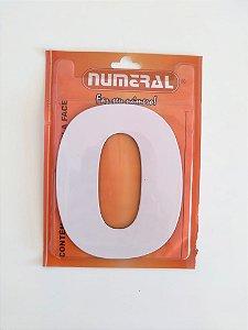 Número Branco 0 Adesivado - Numeral