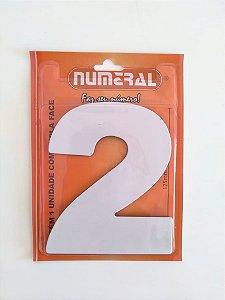 Número Branco 2  Adesivado - Numeral