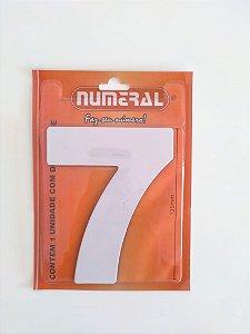 Número Branco 7 Adesivado - Numeral