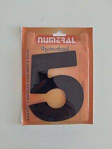 Número Preto 5 Adesivado - Numeral