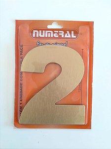 Numero Dourado Escovado 2