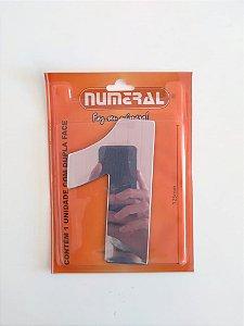 Número Espelhado 1 Adesivado - Numeral