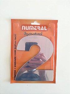NÚMERO ESPELHADO 2 ADESIVADO - NUMERAL