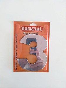 Número Espelhado 3  Adesivado - Numeral