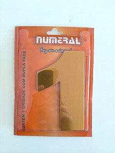 Número Dourado 1 Adesivado  - Numeral