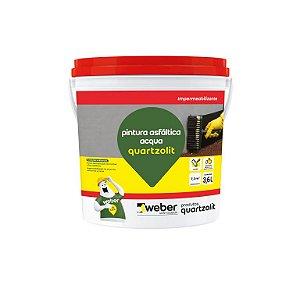 Pintura Asfaltica Acqua 3,60 Litros (similar Neutrol) - Quartzolit