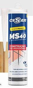 Adesivo Ms40 Hibrido Preto 400g Ciser