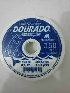LINHA DE NYLON DOURADA ROLO COM 100MT