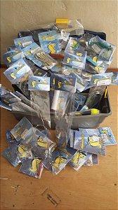 Maleta de pesca com 1 Bandeja e 777 cartelas de acessórios de pesca e sonar de prfudidade