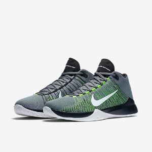 63cca1bc19 Tenis Basquete Nike Zoom Ascention Cinza Original
