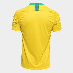 7529f9ce18818 Camisa Seleção Brasileira Nike 2018 Torcedor Amarela zoom