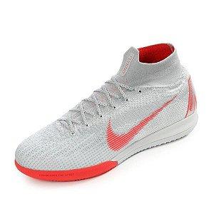 d6e1b4117cc5f Chuteira Salão Nike Superfly 6 Elite Cinza Original