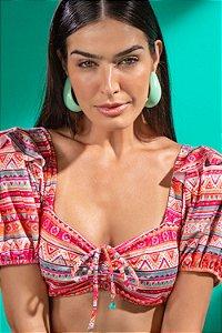 Top Avulso Rastros Étnicos - Silvia Schaefer