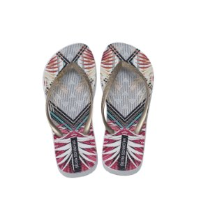 Chinelo Estampado Ouro