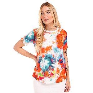 Camiseta Tie Dye Laranja - Silvia Schaefer