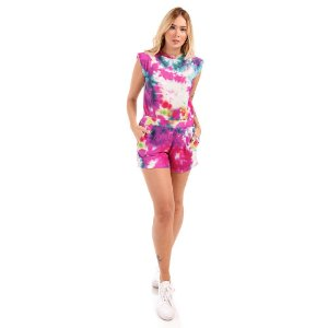 Conjunto Muscle Tee + Shorts Tie Dye - Silvia Schaefer