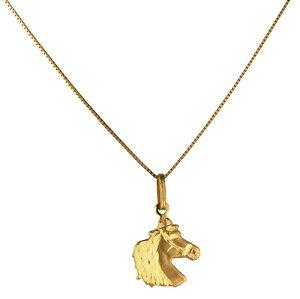 Pingente cavalo em ouro amarelo 18k PC 1.18