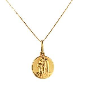 Pingente medalha anjo da guarda em ouro amarelo 18k PC 3.06
