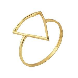 Anel triangulo em ouro 18k PC 2.74