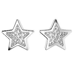 Brinco de Prata de Estrela Cravejado Blivejoias