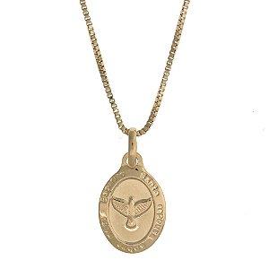 Colar com Medalha de Espírito Santo Folheado a Ouro 18K Blivejoias