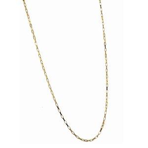 Corrente em ouro amarelo 18k cartier estendida, maciça de 45cm. Peso 1,4g.