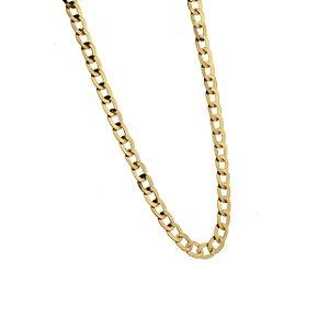 Corrente em ouro amarelo 18k elo groumet laminada, de 60cm. Peso 10,3g.