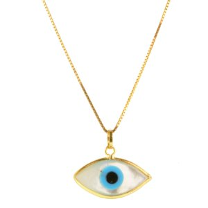 Pingente olho grego pequeno em ouro amarelo 18k PC 1.24