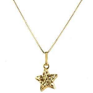 Pingente estrela  em au 18k amarelo, liso, vazado, pequena, sem pedra PC 1.80