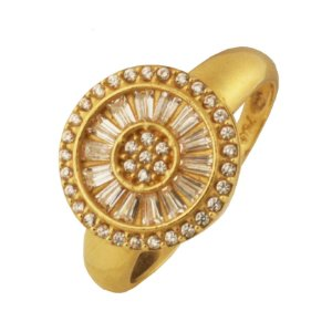 Anel pizza em ouro amarelo 18k PC 10.57