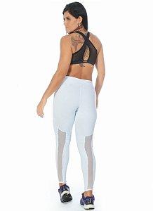 Calça Tela Fitness - Branca