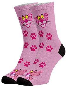 Pantera cor de rosa II meias divertidas e coloridas
