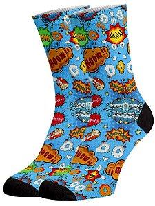 Quadrinhos II meias divertidas e coloridas