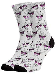 Girafa óculos meias divertidas e coloridas