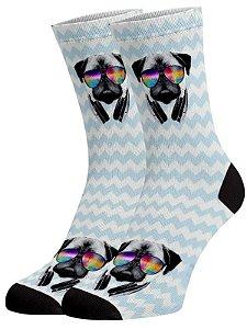 Dog phone meias divertidas e coloridas