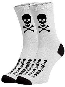 Caveira ossos meias divertidas e coloridas