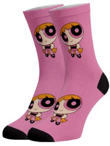 Super Poderosas Florzinha meias divertidas e coloridas