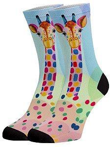 Girafa Color meias divertidas e coloridas