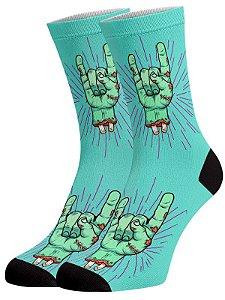 Mão de Zumbi meias divertidas e coloridas