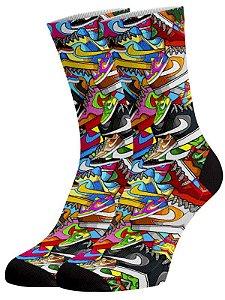I love Nike meias divertidas e coloridas