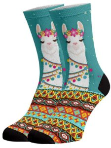 Lhama Peruana meias divertidas