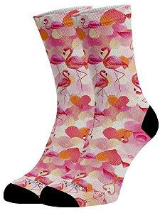 Meias Fun  - Flamingo Rosa