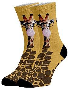 Girafa Ploc Meias Divertidas e Coloridas