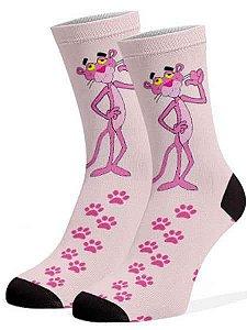 Meias Fun - Pantera cor de rosa