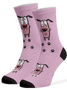 Meias Fun - Cão rosa