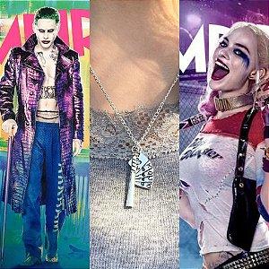 Colar Esquadrão Suicida Coringa Harley Quinn Suicide Squad